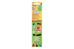 Олівці кольорові №15146 Dual Cool for School 6шт