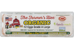The Farmer's Hen Organic Grade A Large Eggs - 12 CT