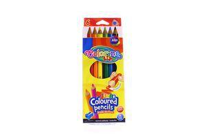 Олівці Colorino kids трикутні 6 кольорів + чинка 15516