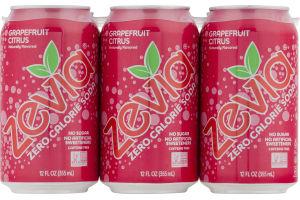 Zevia Zero Calorie Soda Grapefruit Citrus - 6 PK