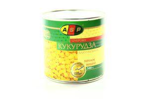 Кукуруза суперсладкая в/с ж/б ASP 340г