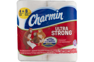 Charmin Ultra Strong Bathroom Tissue Double Rolls - 4 CT