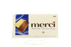 Шоколад Merci молочний 100г х15