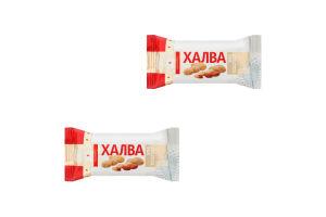 Халва Золотой Век подсолнечная арахисовая конфетка