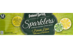 Poland Spring Sparklers Sparkling Natural Spring Water Lemon Lime - 12 PK