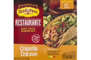 Old El Paso Restaurante Soft Taco Dinner Kit Chipotle Chicken - 10 CT