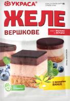 Желе з ароматом ванілі Вершкове Украса м/у 90г