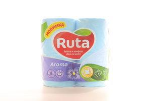 Бумага туалетная 2-х слойная Фиалка Aroma Ruta 4шт
