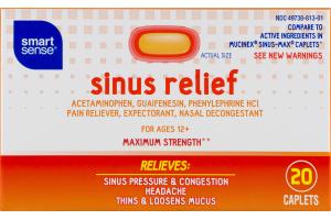 Smart Sense Sinus Relief Caplets - 20 CT