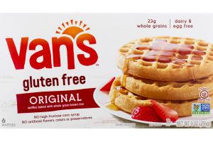 Van's Gluten Free Whole Grain Brown Rice Waffles Totally Original - 6 CT
