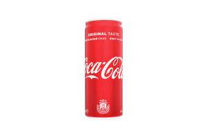 Напиток безалкогольный сильногазированный Coca-Cola ж/б 0.25л