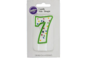 Wilton Candle 3 IN High Numeral 7 Green