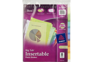Avery Big Tab Insertable Plastic Dividers - 8 CT