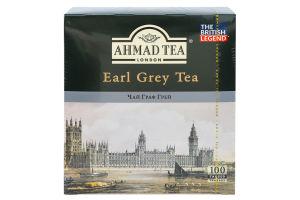 Чай чорний з ароматом бергамоту Earl Grey Ahmad Tea к/у 100х2г