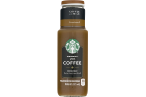 Starbucks Iced Coffee Medium Roast Coffee with Milk Sweetened