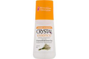 Crystal Essence Mineral Deodorant Roll-On Chamomile & Green Tea
