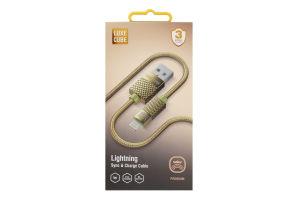 Кабель 1м золотий Lightning to USB Luxe Cube 1шт