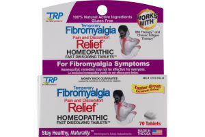 TRP Temporary Fibromyalgia Pain And Discomfort Relief Homeopathic Tablets - 70 CT