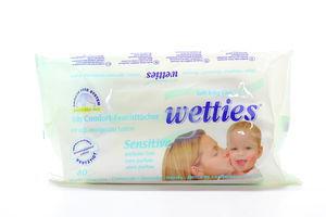 Салфетки влажные детские Sensitive Wetties 80шт