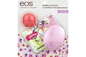 eos Lip Balm Pink Grapefruit, Hand Lotion Berry Blossom, Kleenex Slim-Wallet Pack