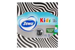 Серветки паперові дитячі 3-х шарові Zewa 60шт