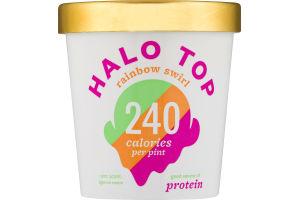 Halo Top Light Ice Cream Rainbow Swirl