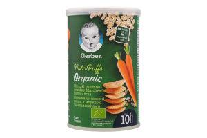 Снеки пшенично-овсяные для детей от 10мес с морковью и апельсинами Organic Gerber к/у 35г