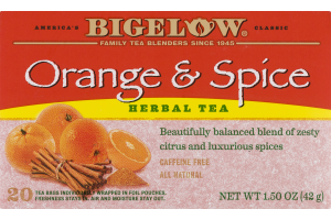 Bigelow Orange & Spice Herbal Tea - 20 CT