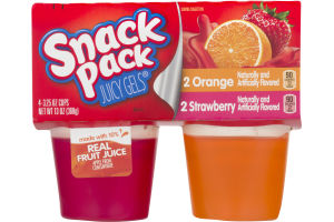 Snack Pack Juicy Gels Orange and Strawberry - 4 CT