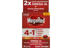 MegaRed Advanced 4 In 1 Omega-3s Softgels - 70 CT