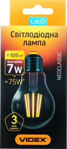 Лампа Videx Filament Led A60F 7W 4100K E27