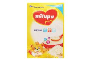 Каша Milupa молочна суха швидкорозчинна рисова для дітей від 4-х міс. 210г
