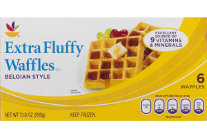 Ahold Waffles Extra Fluffy Belgian Style