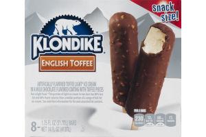 Klondike English Toffee Ice Cream Bars Snack Size - 8 CT