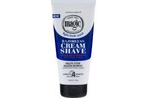 SoftSheen Carson Magic Light Fresh Scent Razorless Regular Strength for Normal Beards Cream Shave