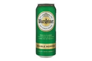 Пиво 0.5л 4.8% светлое фильтрованное пастеризованное Double Hopped Warsteiner ж/б