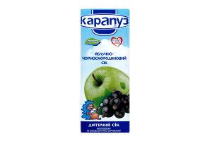 Сік для дітей з 6міс яблучно-чорносмородиновий Карапуз т/п 200мл