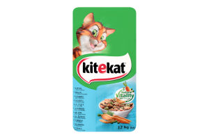 Корм сухой для взрослых кошек с рыбой и овощами KiteKat м/у 12кг