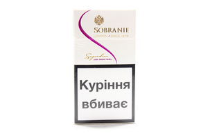 Сигареты Sobranie Superslims White