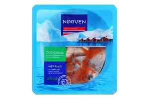 Оселедець філе-шматочки в кисло-солодкому соусі з овочами Norven лоток 200г