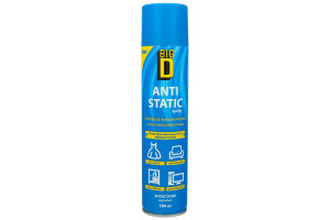 Засіб Big D для антистатичної обробки синтетич/матеріалів 300мл