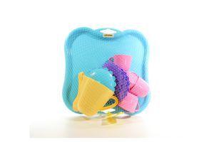 Іграшка пластикова Набір посуду на підносі 17 ел. Wader 22030