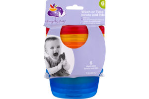 Always My Baby Wash or Toss Bowls and Lids - 6 CT