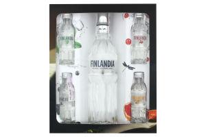 Набор водка Finlandia 0.5л 40% + миниатюры вкусовых водок Finlandia 4*0.05л 37.5% к/у