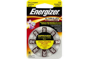 Energizer Zinc Air Batteries 312 - 8 CT