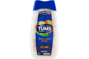 Tums Ultra Strength 1000 Antacid Chewable Tablets Assorted Fruit - 160 CT