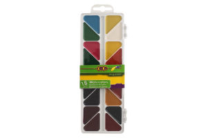 Краски акварельные медовые без кисточки 18 цветов №ZB.6523 Zibi 1шт