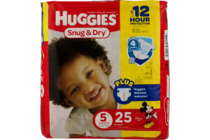 Huggies Snug & Dry Diapers Size 5 - 25 CT
