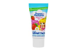 Зубная паста детская Жемчужная улыбка Маленька фея 1-6 лет Happy moments 60мл