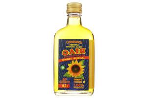 Масло подсолнечное домашнее украинское Соняшки с/бут 0.2л